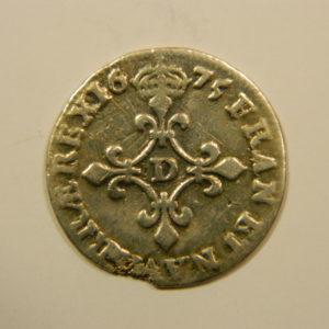 4 Sols  dit aux traitants Louis XIV 1675D TTB Argent 798°/°° EB90130