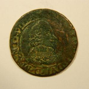 Double Tournois Charles II de Gonzague 1637 TTB++ R2 EB90132