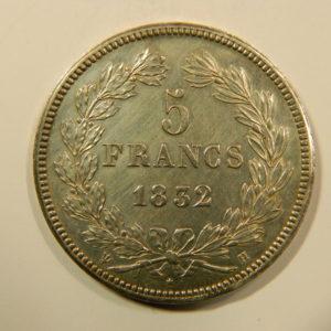 5 Francs Louis-Philippe Ier 1832H TTB EB90168