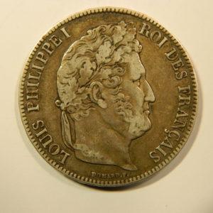 5 Francs Louis-Philippe Ier 1839B TTB  EB90170