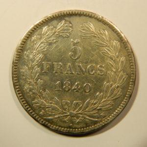 5 Francs Louis-Philippe Ier 1840K SUP+  EB90173